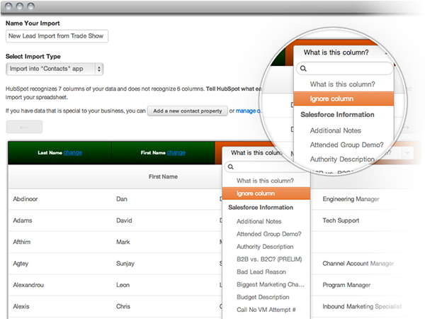 HubSpot3 import contacts