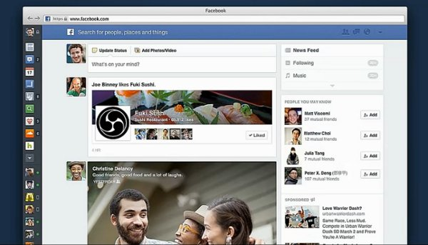 facebook interface paradigm shift