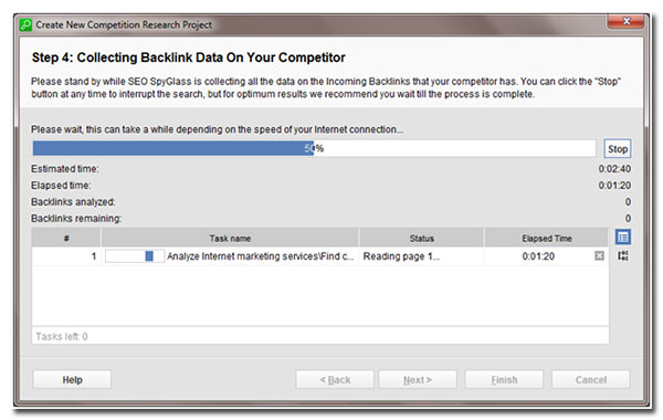 step 4 collecting backlind data on your competitor