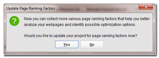 update page ranking factors