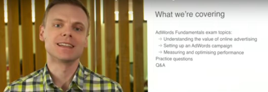 Google AdWords Fundamentals Exam Prep video
