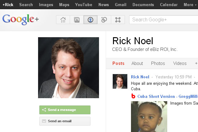 Google Plus Business Page Personal Profile
