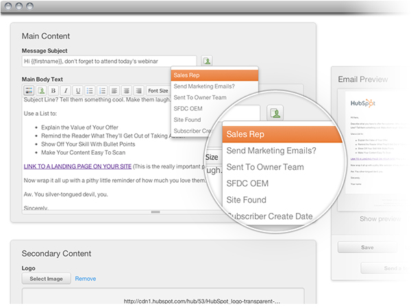 HubSpot 3 Email personalization