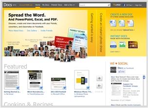 Facebook instant personalization partner Docs.com