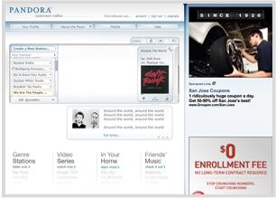 Facebook instant personalization partner Pandora.com