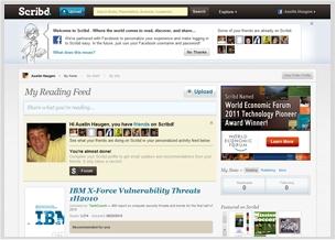 Facebook instant personalization partner Scribd.com