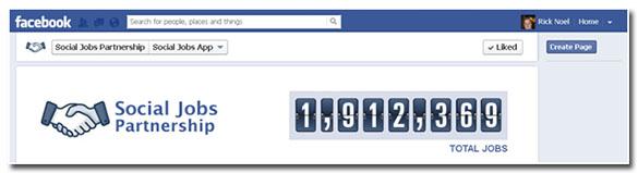 facebook social jobs app number of jobs