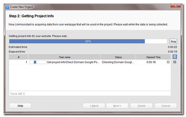 step 2 getting project info