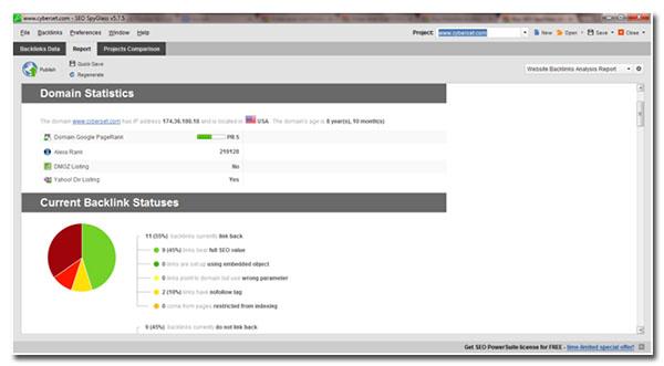 website backlinks analysis report