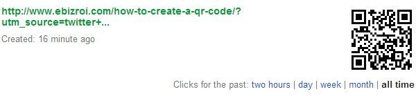 Google URL shortner goo.gl created qr code