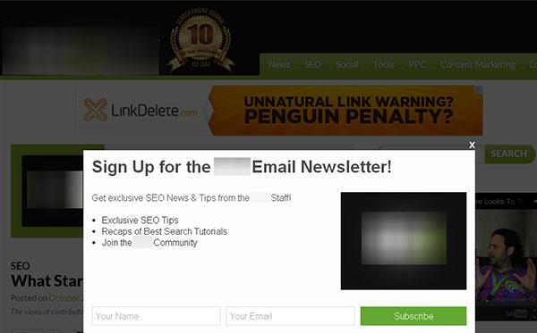 Intersital Example of Popular SEO Blog