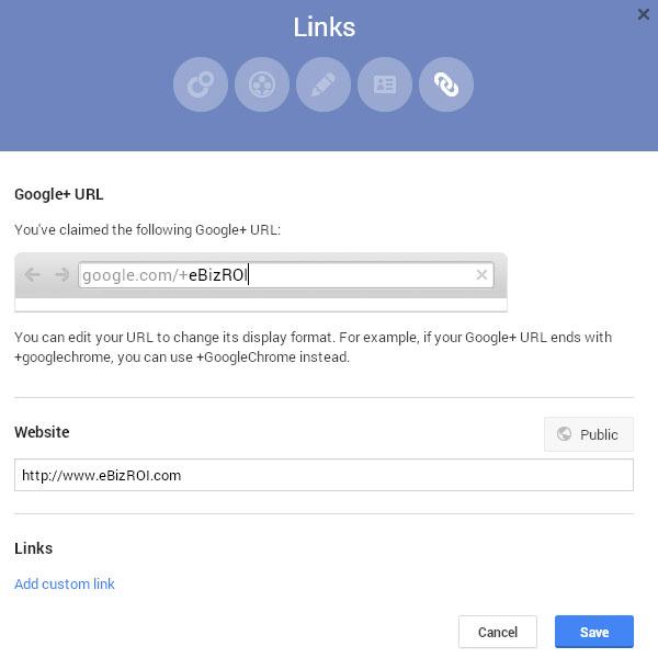 Change capitalization/case of the Google+ Custom URL