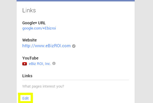 Click edit in the links section of the about page to change your custom URL