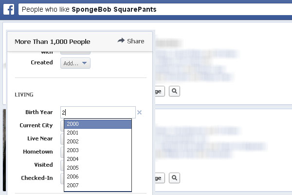 Example of Facebook Graph Search that a pedophile might use to