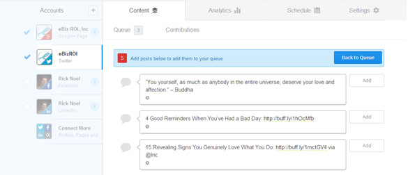 Curating Content Using Buffer's Suggested Posts Feature