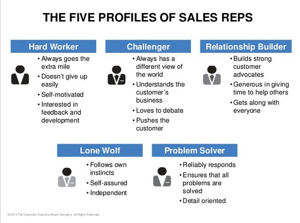 The 5 Sales Executive Profiles According to CEB Findings