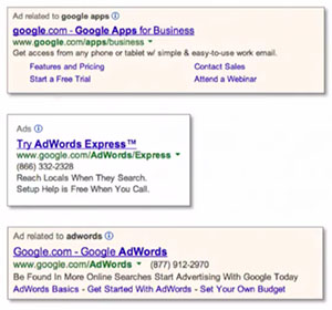 Google AdWords Search Ad Specifications