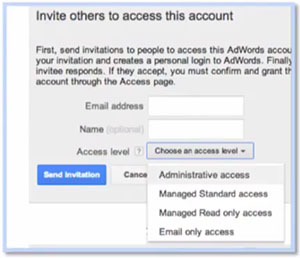 Google AdWords - invite others to access this account