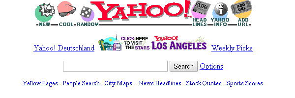 The History of Search -Yahoo Circa 1996