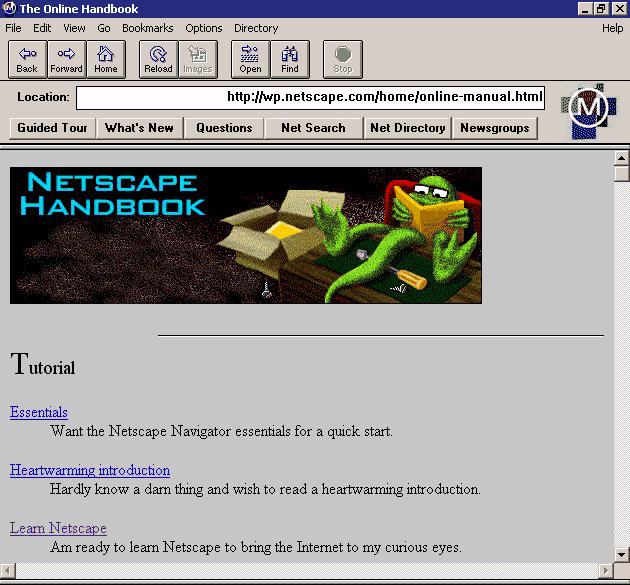 Mosaic Netscape 0.9 on Windows