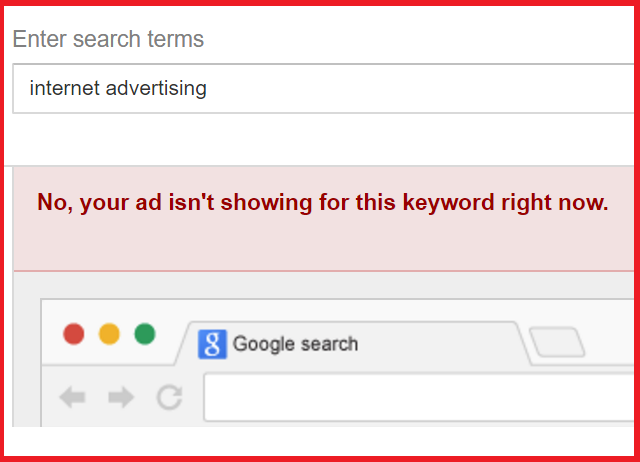 Ad Diagnostics and Preview Tool Use to See Ad and Position by Keyword