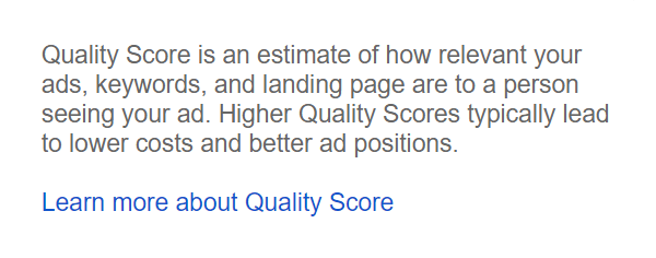 What is an AdWords Quality Score and why you should care
