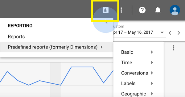 The New AdWords Experience - Access to Reports
