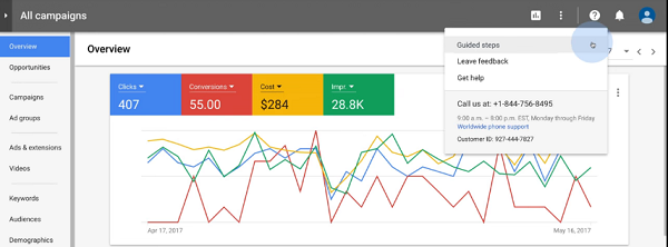 The New AdWords Experience - Use Guided Steps to Get Things Done