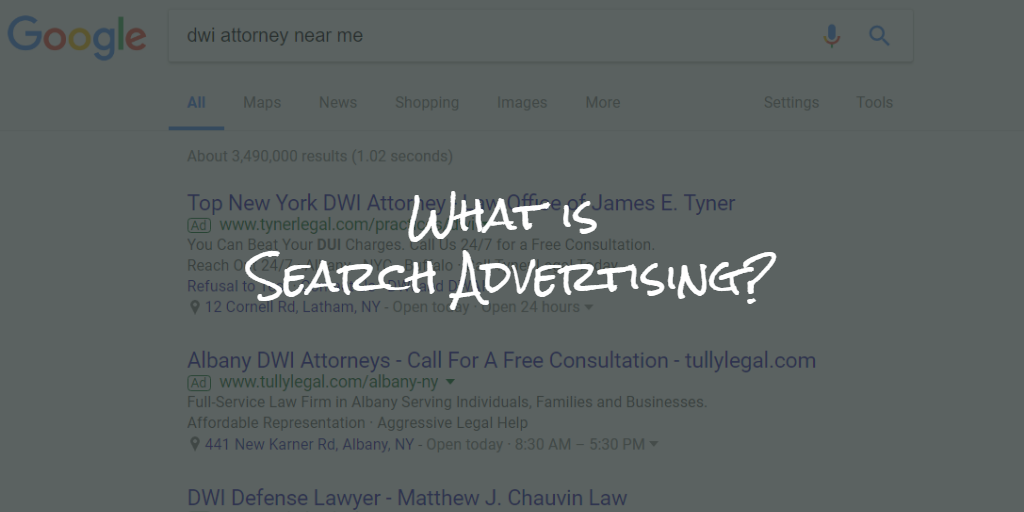 what is search advertising